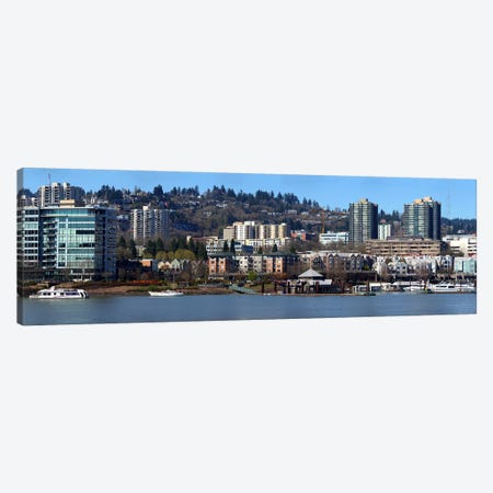 Buildings at the waterfront, Portland, Multnomah County, Oregon, USA 2011 Canvas Print #PIM9629} by Panoramic Images Canvas Artwork