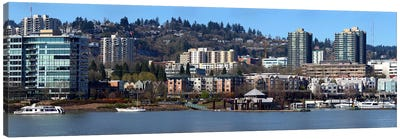 Buildings at the waterfront, Portland, Multnomah County, Oregon, USA 2011 Canvas Art Print