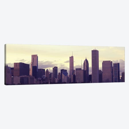 Buildings in a city at dusk, Chicago, Illinois, USA Canvas Print #PIM9630} by Panoramic Images Canvas Art Print