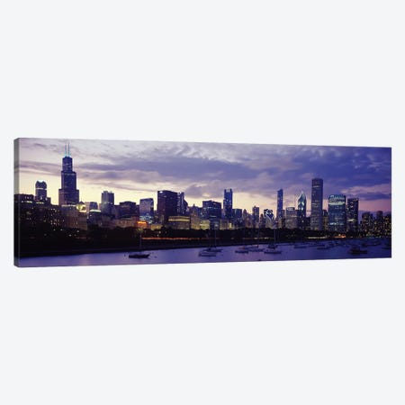 Buildings at the waterfront, Lake Michigan, Chicago, Illinois, USA Canvas Print #PIM9631} by Panoramic Images Canvas Print