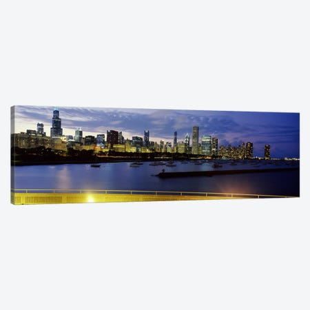 Buildings at the waterfront, Lake Michigan, Chicago, Illinois, USA #2 Canvas Print #PIM9633} by Panoramic Images Art Print