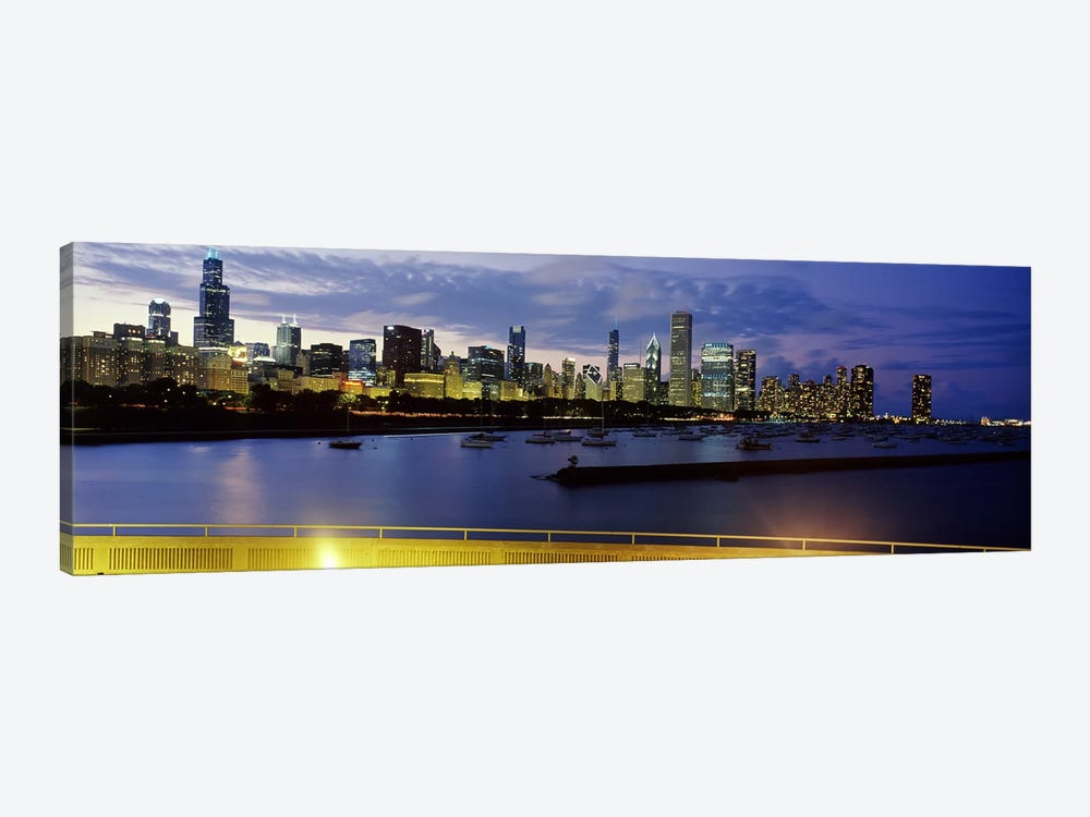 Buildings at the waterfront, Lake Michigan, Chicago, Illinois, USA #2 by Panoramic Images 1-piece Art Print