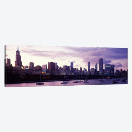 Buildings at the waterfront, Lake Michigan, Chicago, Illinois, USA #3 Canvas Print #PIM9634} by Panoramic Images Canvas Art