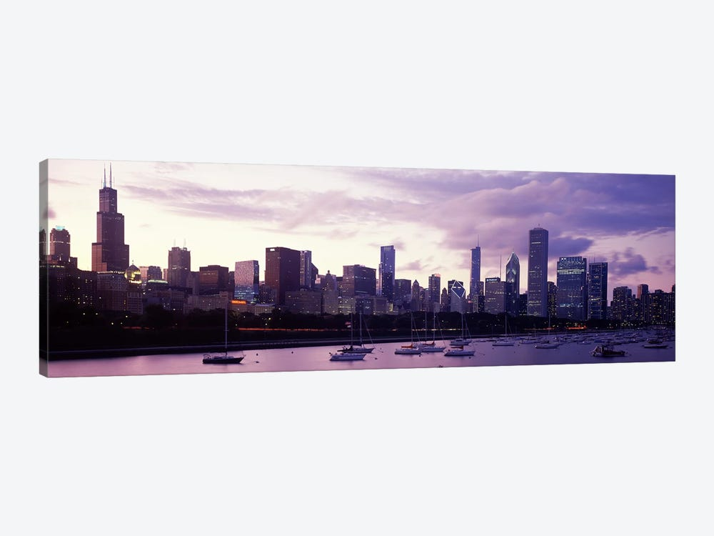 Buildings at the waterfront, Lake Michigan, Chicago, Illinois, USA #3 by Panoramic Images 1-piece Canvas Artwork