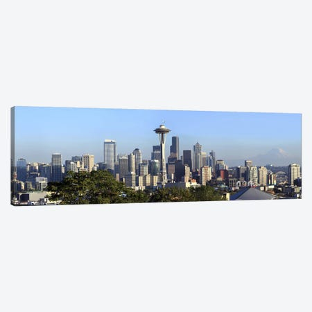 Seattle city skyline and downtown financial building, King County, Washington State, USA 2010 Canvas Print #PIM9635} by Panoramic Images Canvas Art