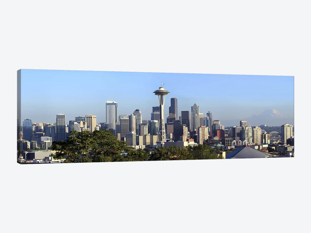Seattle city skyline and downtown financial building, King County, Washington State, USA 2010 by Panoramic Images 1-piece Canvas Print