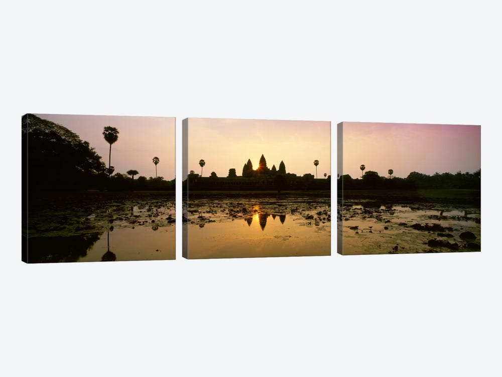 Angkor Vat Cambodia by Panoramic Images 3-piece Canvas Art