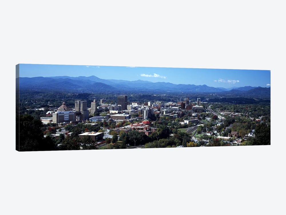 Aerial View Of Downtown, Asheville, Buncombe County, North Carolina, USA by Panoramic Images 1-piece Canvas Art
