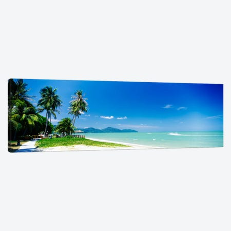 Distant View Of Penang Natinal Park From Batu Ferringhi, Penang Island, Malaysia Canvas Print #PIM965} by Panoramic Images Canvas Art