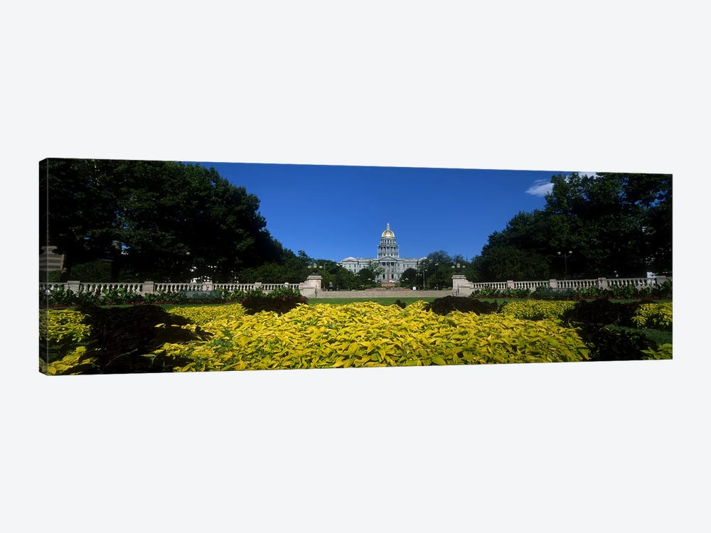 Garden in front of a State Capitol Building, Civic Park Gardens, Denver, Colorado, USA by Panoramic Images 1-piece Canvas Wall Art