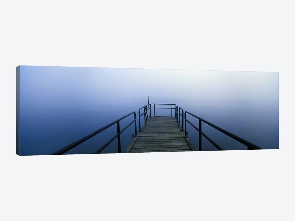 Pier on a lake, Herrington Manor Lake, Garrett County, Maryland, USA by Panoramic Images 1-piece Canvas Wall Art