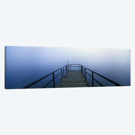 Pier on a lake, Herrington Manor Lake, Garrett County, Maryland, USA 3-Piece Canvas #PIM9674} by Panoramic Images Canvas Art