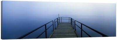 Pier on a lake, Herrington Manor Lake, Garrett County, Maryland, USA Canvas Art Print