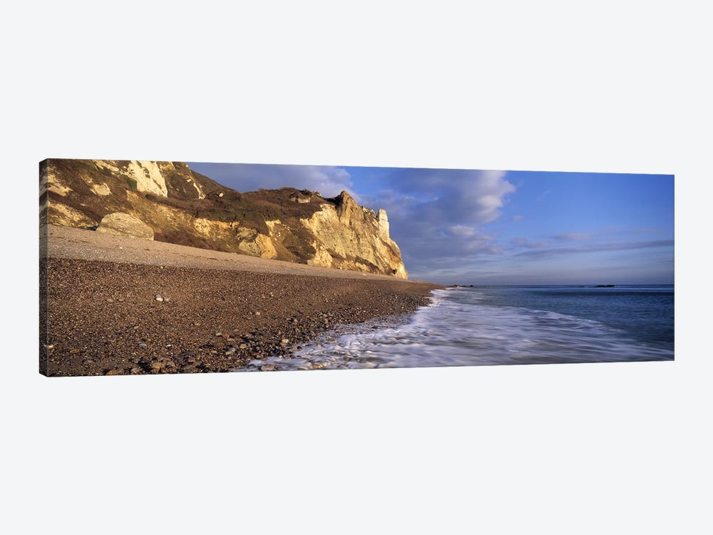 Surf on the beach, Hooken Beach, Branscombe, Devon, England by Panoramic Images 1-piece Canvas Print