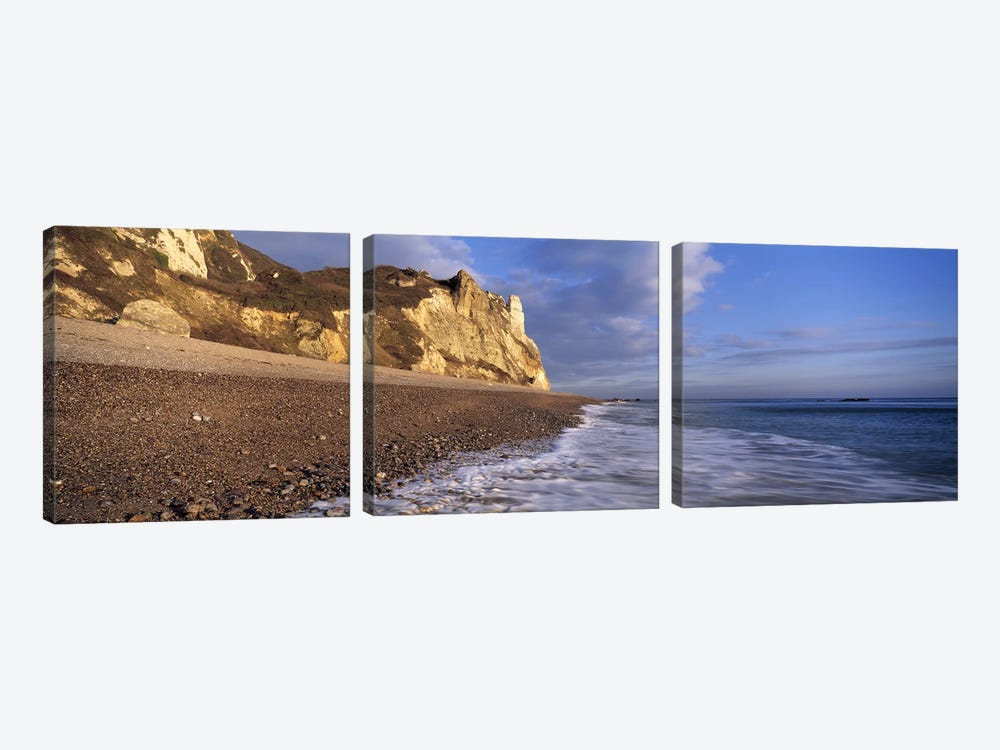 Surf on the beach, Hooken Beach, Branscombe, Devon, England by Panoramic Images 3-piece Art Print