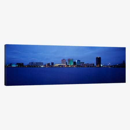 Buildings on the waterfront, Norfolk, Virginia, USA Canvas Print #PIM969} by Panoramic Images Art Print