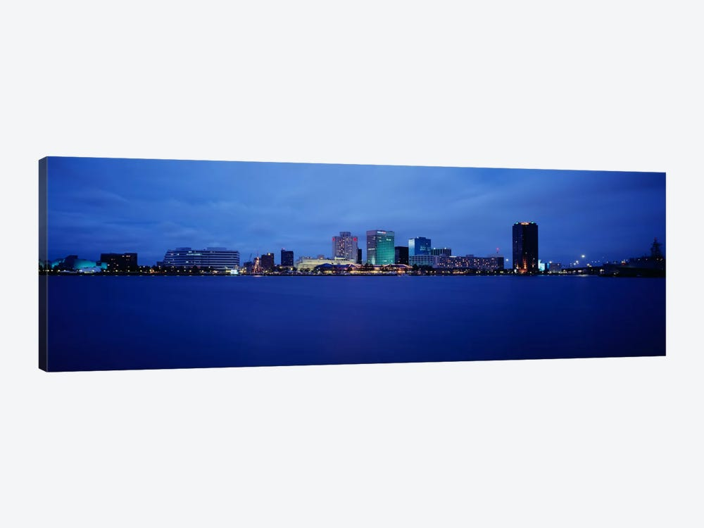 Buildings on the waterfront, Norfolk, Virginia, USA by Panoramic Images 1-piece Canvas Print