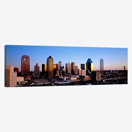 USA, Texas, Dallas, sunrise Canvas Print #PIM96} by Panoramic Images Canvas Wall Art
