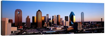 USA, Texas, Dallas, sunrise Canvas Art Print