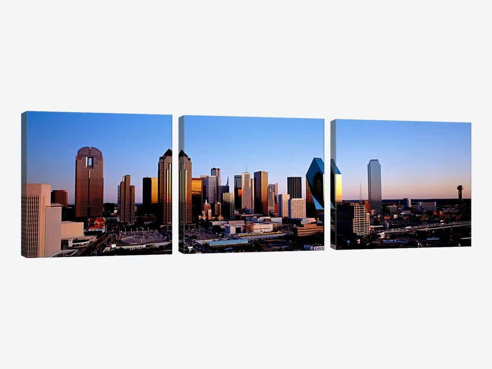 USA, Texas, Dallas, sunrise by Panoramic Images 3-piece Canvas Print