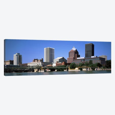 Buildings at the waterfront, Genesee River, Rochester, Monroe County, New York State, USA 2011 Canvas Print #PIM9705} by Panoramic Images Canvas Artwork