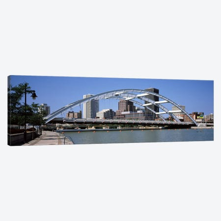 Frederick Douglas-Susan B. Anthony Memorial Bridge across the Genesee RiverRochester, Monroe County, New York State, USA Canvas Print #PIM9706} by Panoramic Images Canvas Wall Art