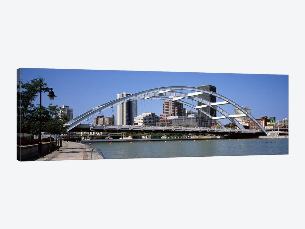 Frederick Douglas-Susan B. Anthony Memorial Bridge across the Genesee RiverRochester, Monroe County, New York State, USA by Panoramic Images 1-piece Canvas Artwork
