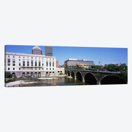 Arch bridge across the Genesee River, Rochester, Monroe County, New York State, USA 3-Piece Canvas #PIM9707} by Panoramic Images Canvas Art