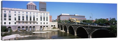 Arch bridge across the Genesee River, Rochester, Monroe County, New York State, USA Canvas Art Print
