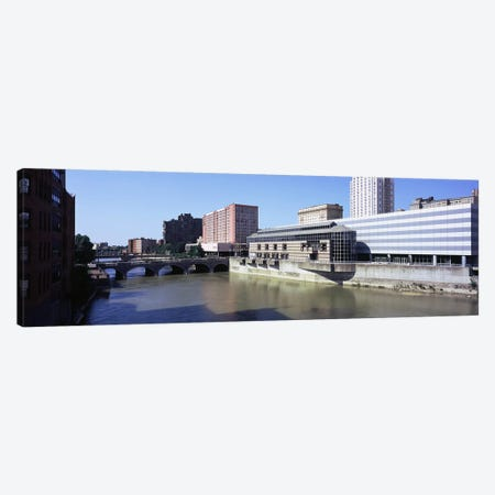 Buildings at the waterfront, Genesee River, Rochester, Monroe County, New York State, USA Canvas Print #PIM9708} by Panoramic Images Canvas Art Print