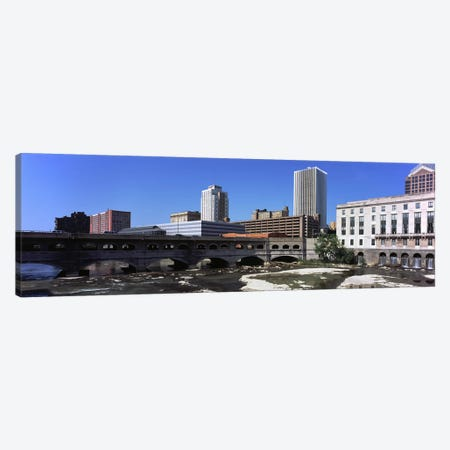 Bridge across the Genesee RiverRochester, Monroe County, New York State, USA Canvas Print #PIM9709} by Panoramic Images Canvas Print