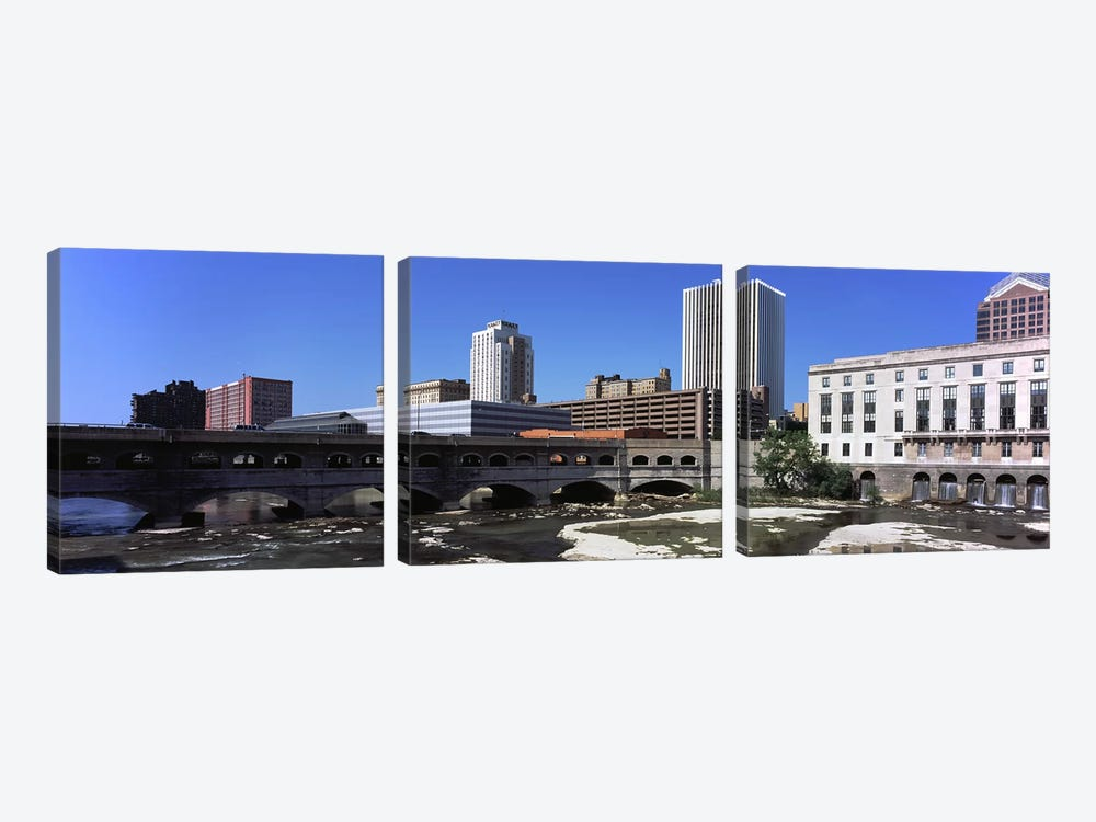 Bridge across the Genesee RiverRochester, Monroe County, New York State, USA by Panoramic Images 3-piece Canvas Print