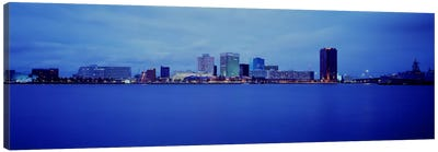 Buildings at the waterfront, Norfolk, Virginia, USA Canvas Art Print