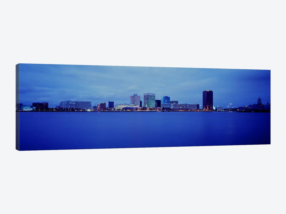 Buildings at the waterfront, Norfolk, Virginia, USA by Panoramic Images 1-piece Canvas Print