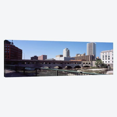 Bridge across the Genesee RiverRochester, Monroe County, New York State, USA Canvas Print #PIM9710} by Panoramic Images Canvas Wall Art