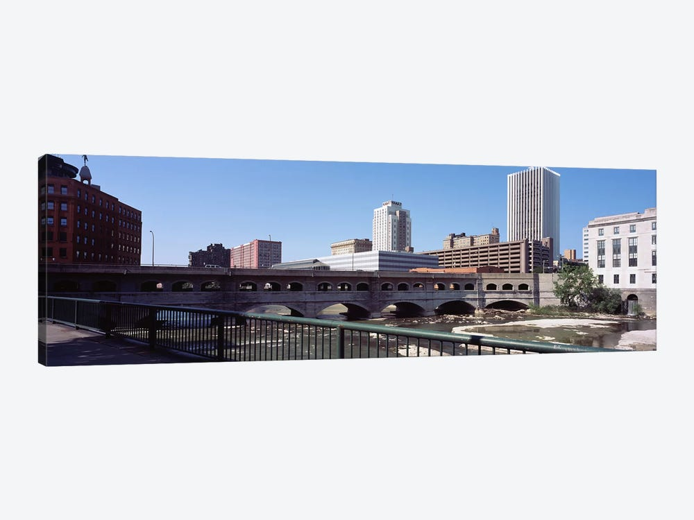 Bridge across the Genesee RiverRochester, Monroe County, New York State, USA by Panoramic Images 1-piece Canvas Art Print
