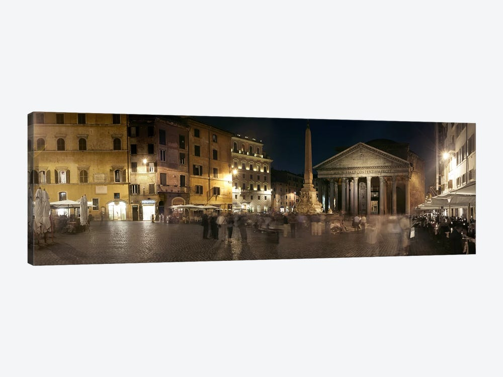 Blurred Motion View Of Pedestrians In Piazza della Rotonda, Rome, Lazio, Italy by Panoramic Images 1-piece Art Print
