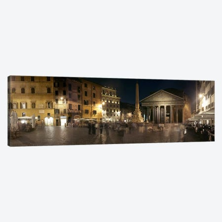 Blurred Motion View Of Pedestrians In Piazza della Rotonda, Rome, Lazio, Italy Canvas Print #PIM9712} by Panoramic Images Canvas Wall Art