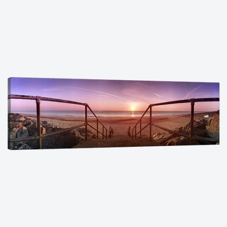 Staircase leading towards a beachCalifornia, Norfolk, England Canvas Print #PIM9719} by Panoramic Images Canvas Wall Art