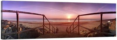 Staircase leading towards a beachCalifornia, Norfolk, England Canvas Print #PIM9719