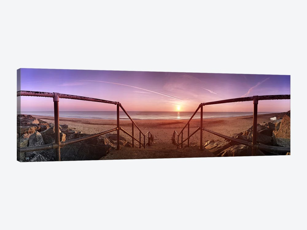 Staircase leading towards a beachCalifornia, Norfolk, England by Panoramic Images 1-piece Canvas Art