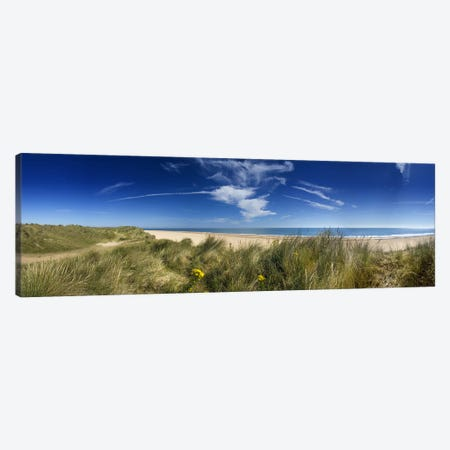 Marram Grassdunes and beach, Winterton-on-Sea, Norfolk, England Canvas Print #PIM9721} by Panoramic Images Art Print
