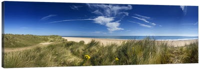 Marram Grassdunes and beach, Winterton-on-Sea, Norfolk, England Canvas Art Print