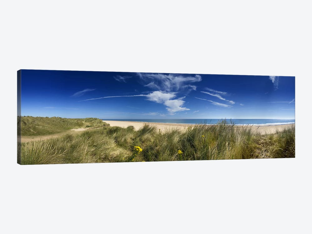 Marram Grassdunes and beach, Winterton-on-Sea, Norfolk, England by Panoramic Images 1-piece Canvas Art Print