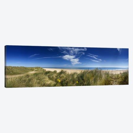 Marram Grassdunes and beach, Winterton-on-Sea, Norfolk, England Canvas Print #PIM9721} by Panoramic Images Art Print