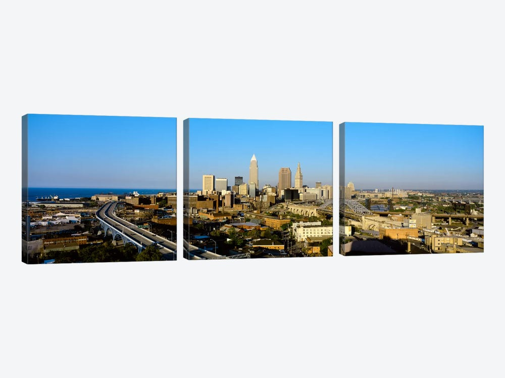 USA, Ohio, Cleveland, aerial by Panoramic Images 3-piece Art Print