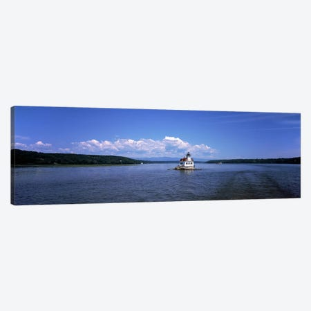 Lighthouse at a river, Esopus Meadows Lighthouse, Hudson River, New York State, USA Canvas Print #PIM9740} by Panoramic Images Canvas Print