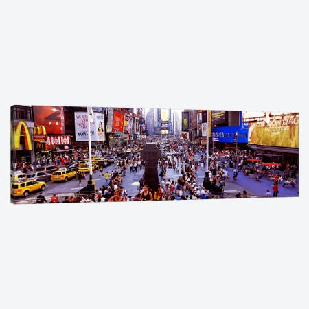 People in a city, Times Square, Manhattan, New York City, New York State, USA Canvas Print #PIM9741} by Panoramic Images Canvas Art Print