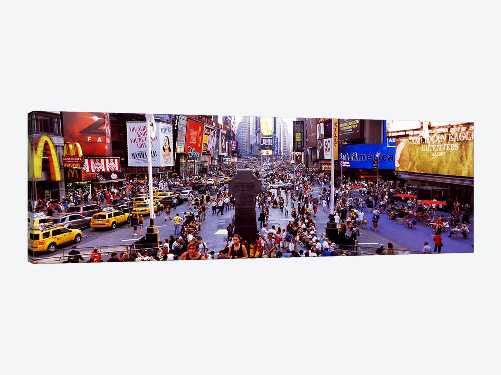 People in a city, Times Square, Manhattan, New York City, New York State, USA by Panoramic Images 1-piece Canvas Print