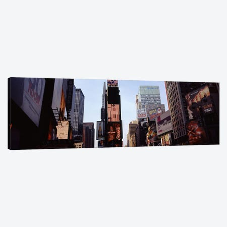 Low angle view of buildings, Times Square, Manhattan, New York City, New York State, USA 2011 Canvas Print #PIM9742} by Panoramic Images Art Print